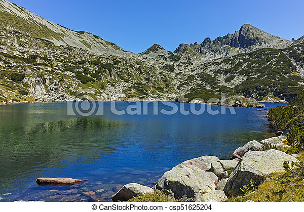 Amazing landscape with Valyavishki lakes and Dzhangal peak, Pirin Mountain, Bulgaria