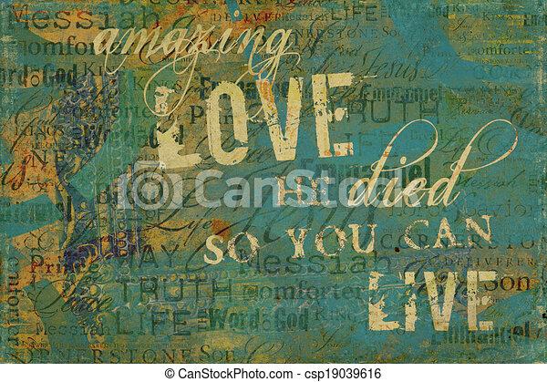 Amazing Love Religious Background - csp19039616