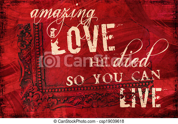 Amazing Love Religious Background - csp19039618