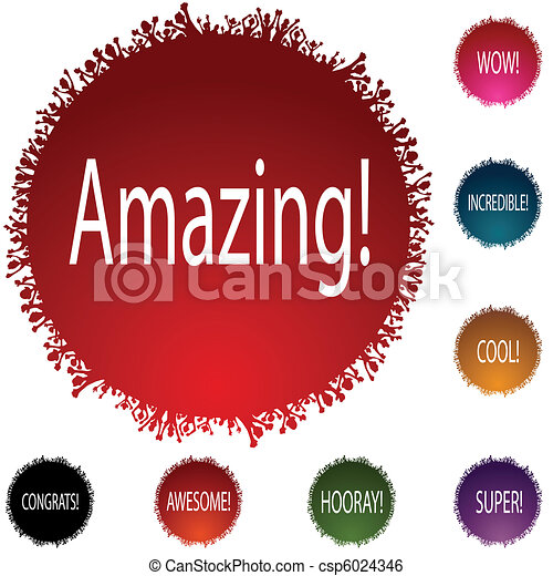 Amazing People Circle Set - csp6024346