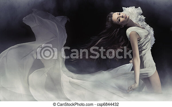 Amazing photo of sensual brunette lady - csp6844432