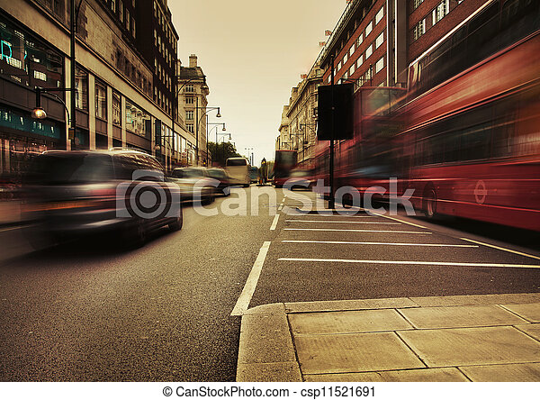 Amazing picture presenting urban traffic - csp11521691