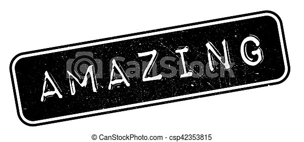 Amazing rubber stamp - csp42353815