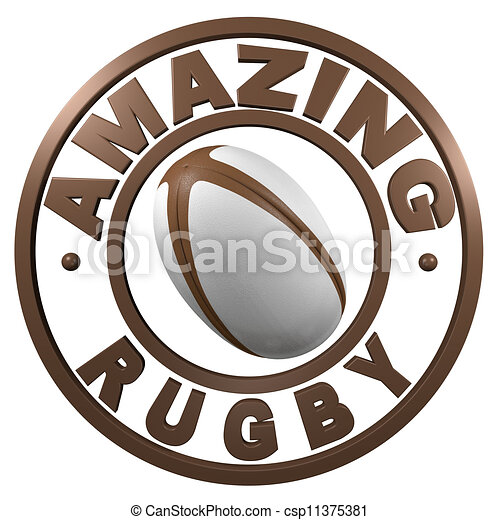 Amazing Rugby circular design - csp11375381