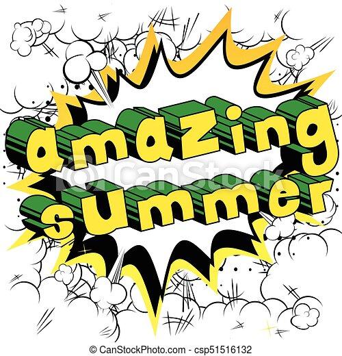 amazing summer comic book style word amazing summer vectors rh canstockphoto com comic book pow clipart comic book superheroes clipart