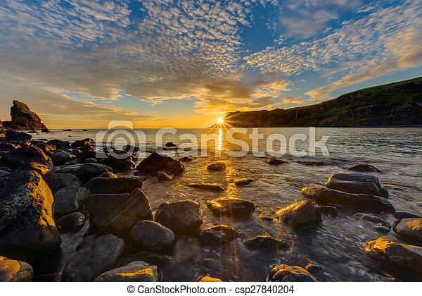 Amazing sunset on the Isle of Skye - csp27840204