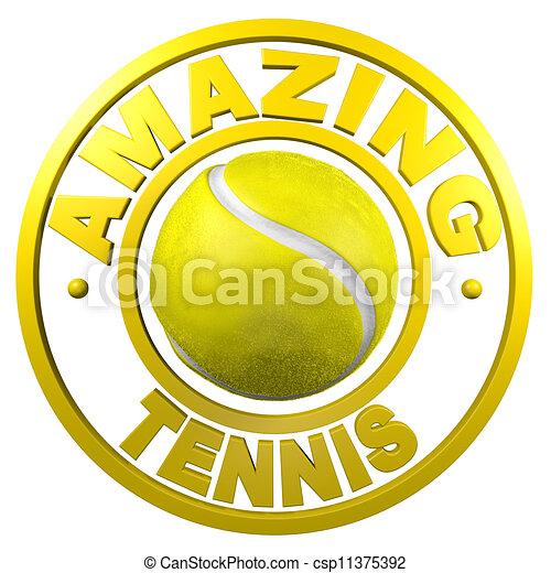 Amazing Tennis circular design - csp11375392