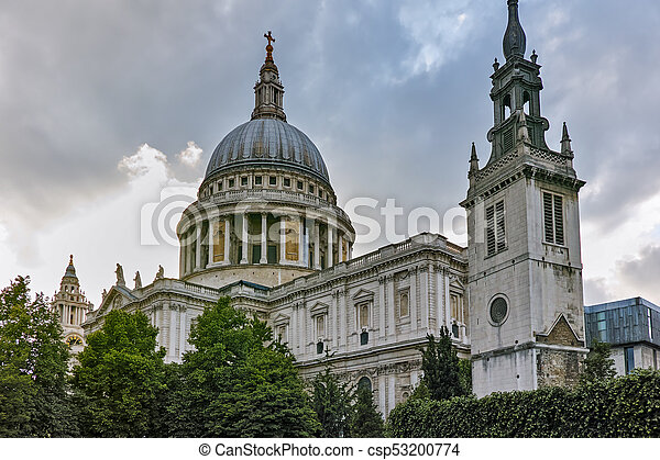 Amazing view of St. Paul Cathedral in London - csp53200774
