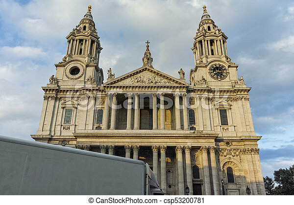 Amazing view of St. Paul Cathedral in London - csp53200781