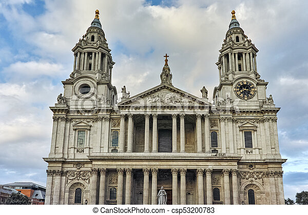 Amazing view of St. Paul Cathedral in London - csp53200783