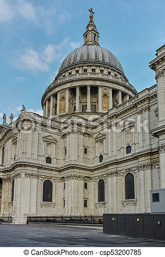 Amazing view of St. Paul Cathedral in London - csp53200785