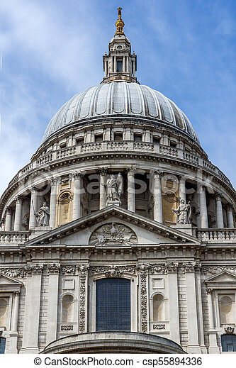 Amazing view of St. Paul Cathedral in London, England - csp55894336