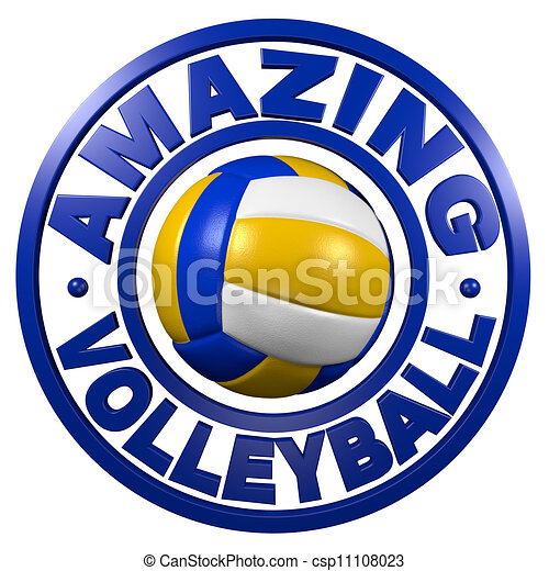 Amazing Volleyball circular design - csp11108023