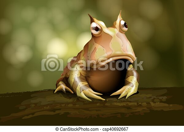 amazon horned frog horned frog realistic vector illustration rh canstockphoto com TCU Horned Frogs Mascot TCU Horned Frog Icon