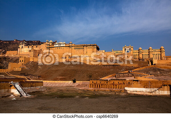 Amber Fort in jaipur in rajasthan state in india - csp6640269