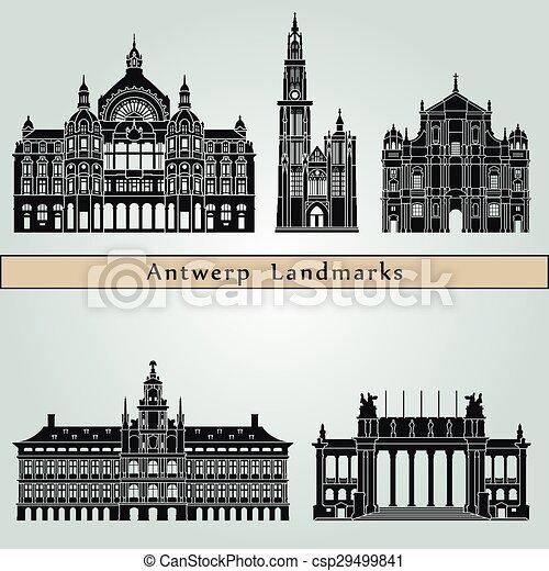 Antwerp monumentos - csp29499841