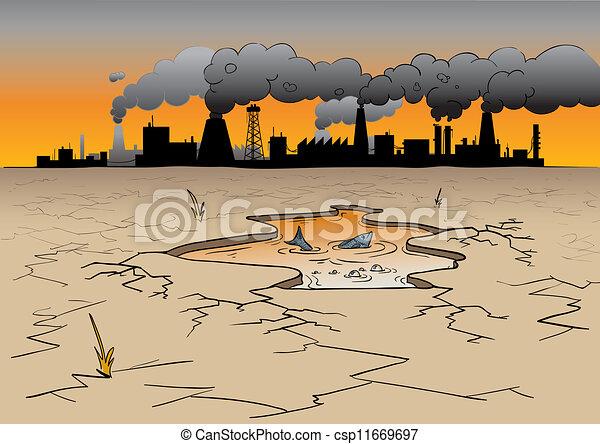 ambiental, contaminación - csp11669697