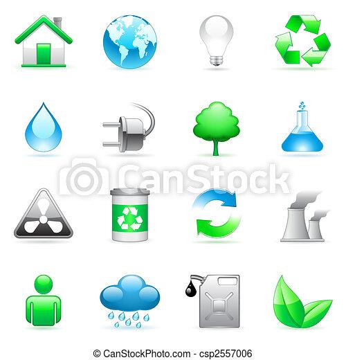 Iconos ambientales. - csp2557006
