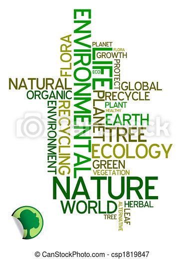 ambientale, ecologia, -, manifesto - csp1819847