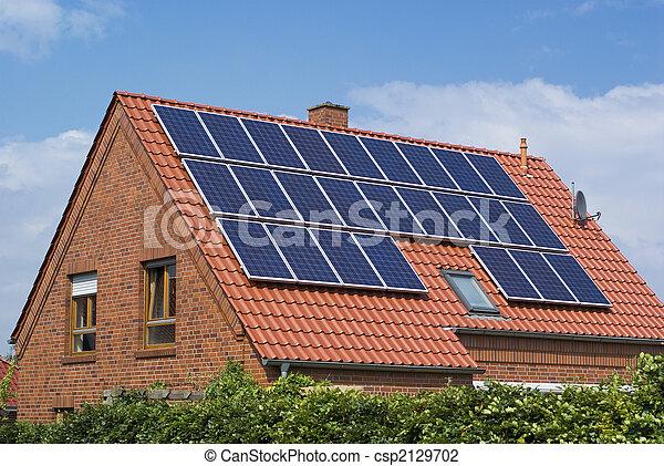 ambiente, amichevole, solare, panels. - csp2129702