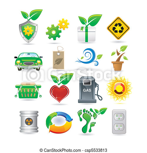 Un conjunto de iconos ambientales - csp5533813