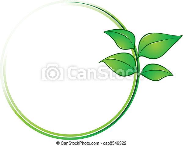ambiente, cornice, foglie - csp8549322