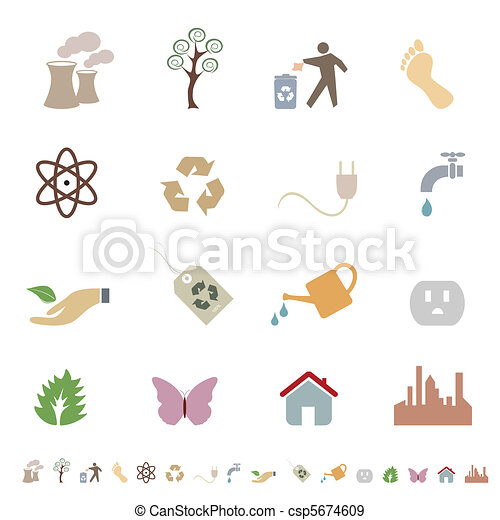 ambiente, eco, pulito, simboli - csp5674609