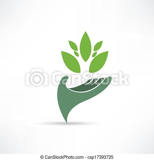 Icono ambiental ecológico - csp17393725