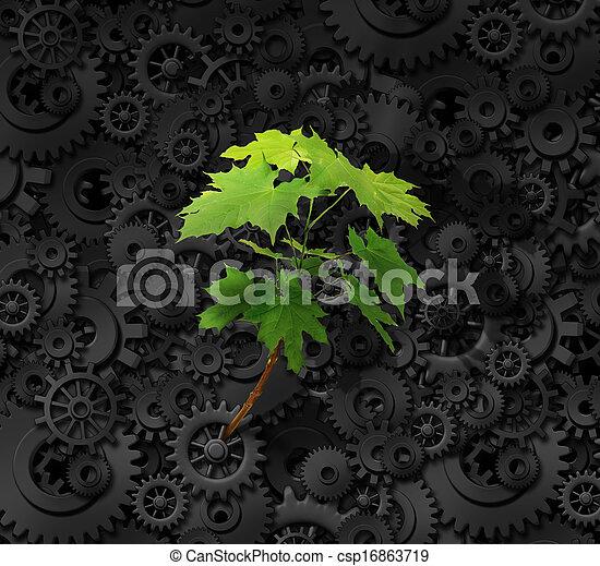 Medio ambiente y negocios - csp16863719