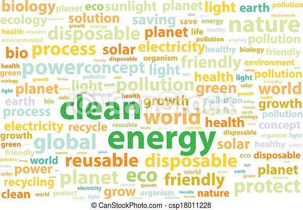 ambiente, energia, amichevole, pulito - csp18011228