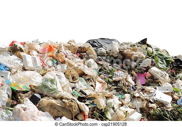 ambiente, pila, contaminación, doméstico, basura - csp21905128
