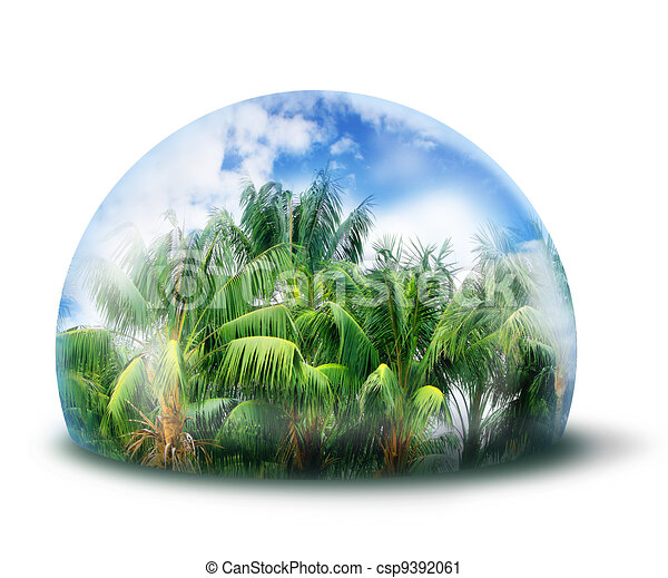 Proteger el concepto de ambiente natural de la selva - csp9392061