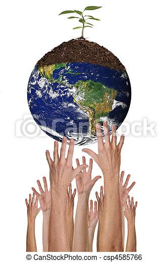 Proteger el medio ambiente juntos es posible - csp4585766