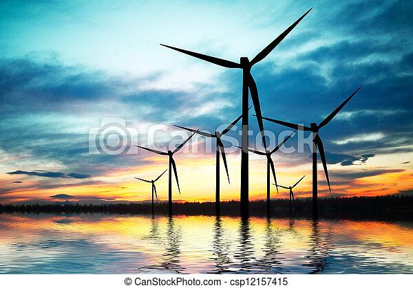 Tecnología y ambiente - csp12157415
