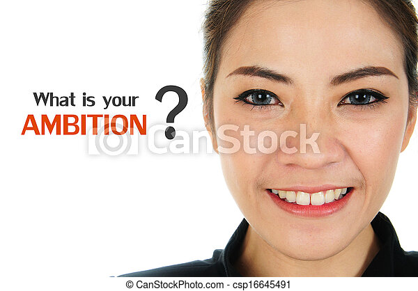Ambition of human resources concept - csp16645491