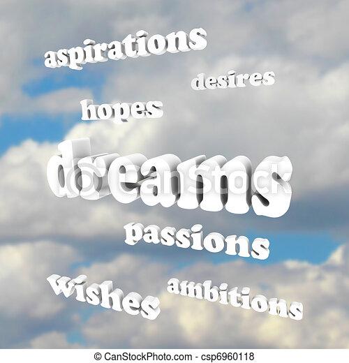 ambizioni, -, cielo, parole, passioni, speranze, fare un sogno - csp6960118