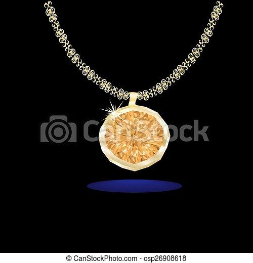 ambra, pendente, stone. - csp26908618