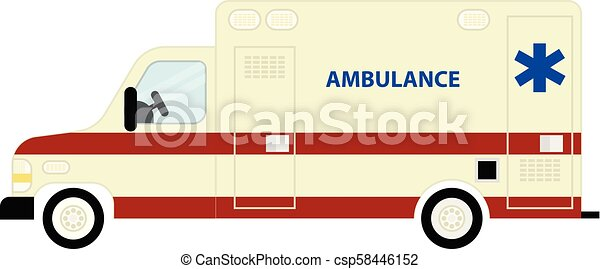Ambulance bus icon - csp58446152