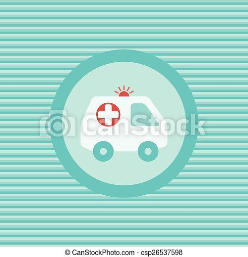 Ambulance Car Color Flat Icon