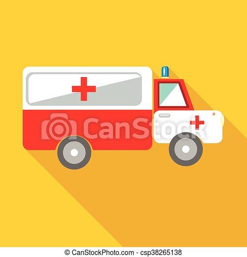 Ambulance car icon, flat style - csp38265138