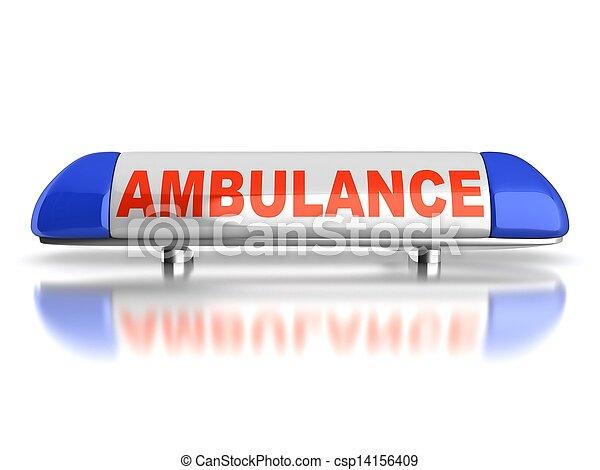 ambulance emergency light - csp14156409