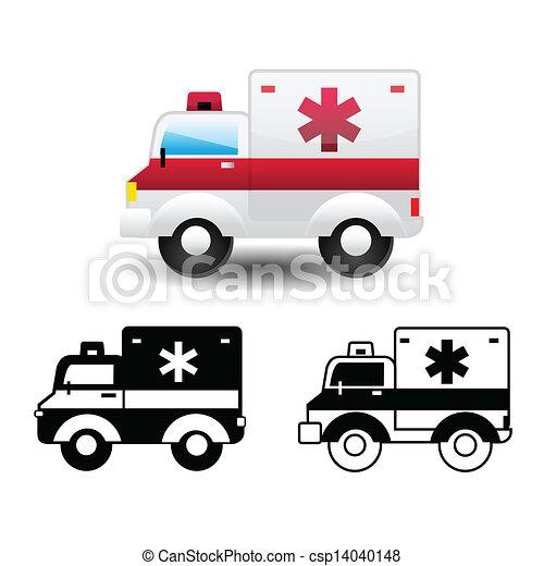 ambulance icon - csp14040148