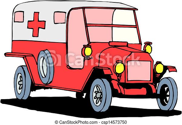 Ambulance on a white background - csp14573750
