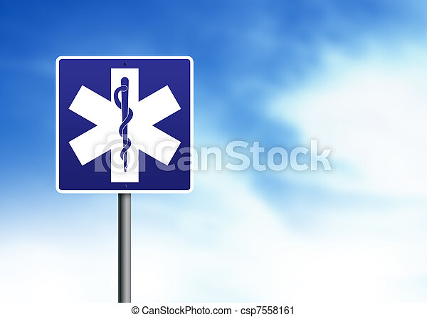 Ambulance Road Sign - csp7558161
