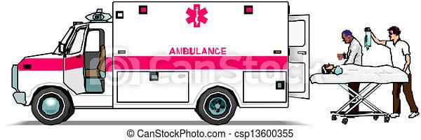 Ambulance van - csp13600355