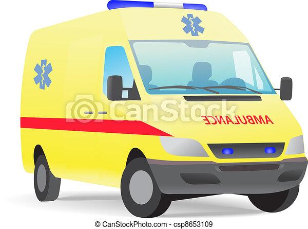 Ambulance van - csp8653109