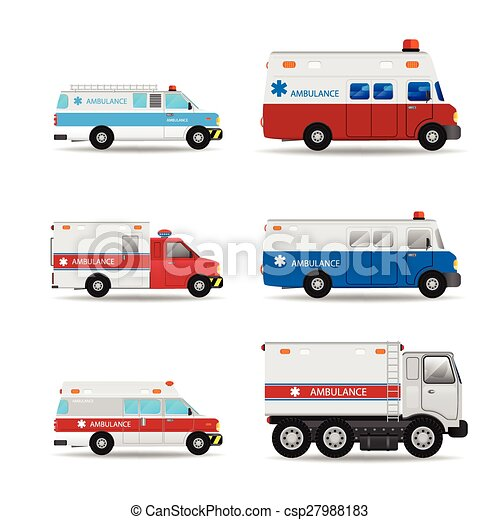 Ambulance vector car - csp27988183