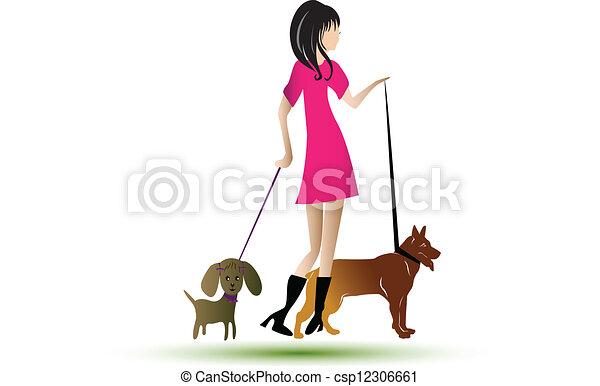 Perros paseantes - csp12306661