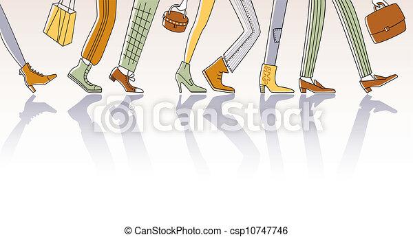Caminando gente - csp10747746