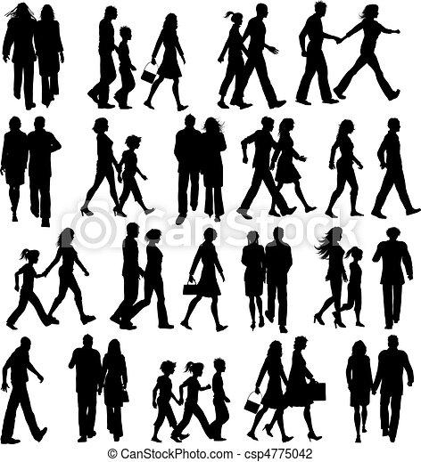 Gente caminando - csp4775042